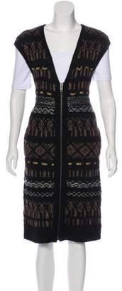 Edun Wool Patterned Vest