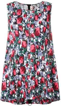 Marni floral print sleeveless blouse