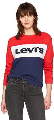 Levi's Women's Colorblock Relaxed Crew Sweatshirt