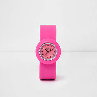 River Island Girls Pink snap on watch