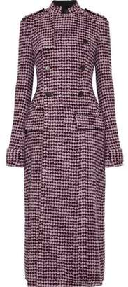Haider Ackermann Double-Breasted Houndstooth Wool-Blend Coat