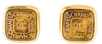 Chanel Gripoix CC Clip-On Earrings