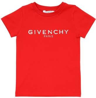 Givenchy Logo Printed Cotton Jersey T-Shirt