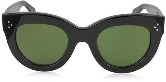 Céline CATY CL 41050/S 8071E Black Acetate Cat Eye Women's Sunglasses $365 thestylecure.com