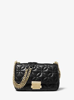 Michael Kors Sloan Small Floral Quilted Leather Shoulder Bag