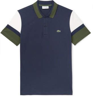 e1803c5c01 Lacoste Slim-Fit Colour-Block Pima Cotton-Blend Pique Polo Shirt