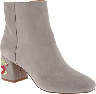 Franco Sarto Suede or Brocade Ankle Boots - Jubilee