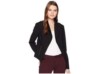 Calvin Klein Luxe Moto Jacket Women's Coat