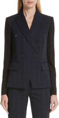 Stella McCartney Pajama Sleeve Check Wool Jacket