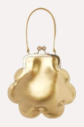Simone Rocha Flower Metallic Patent-leather Tote - Gold