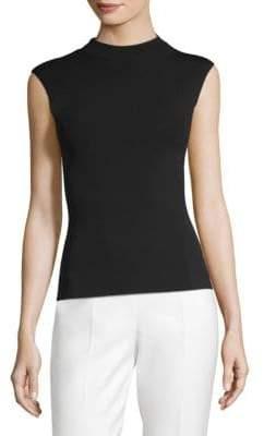 BOSS Fasmine Mockneck Shell-Knit Top