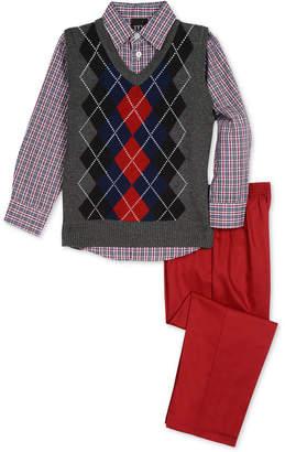 Tfw Little Boys 3-Pc. Argyle Sweater Vest, Shirt & Pants Set