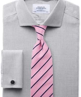 Charles Tyrwhitt Extra slim fit cutaway collar non-iron grey shirt