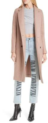 Alexander Wang Double Face Wool Blend Car Coat