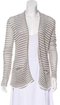 360 Sweater Striped Open-Front Cardigan