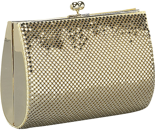 Whiting and Davis Hard Sided Mesh Clutch