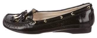 MICHAEL Michael Kors Beige Logo-Embellished Loafers