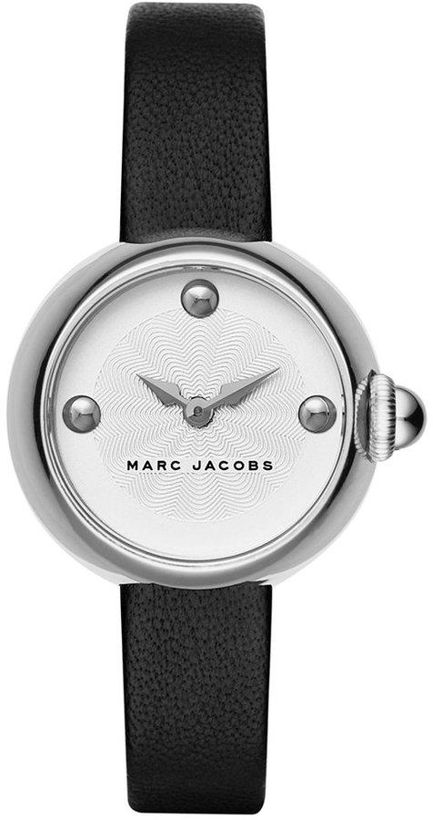 Marc JacobsMarc Jacobs Women's Courtney Black Leather Strap Watch 28mm MJ1430