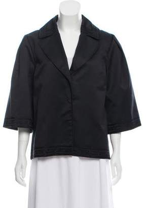 Alberta Ferretti Notch-Lapel Embroidered Jacket