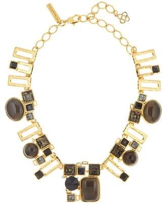 Oscar de la Renta Geometric Resin & Swarovski Crystal Embellished Necklace