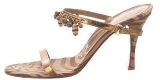 Sergio Rossi Embellished Slide Sandals