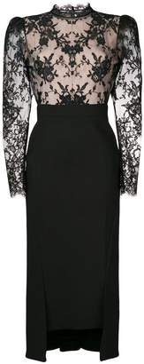Alexander McQueen lace detail fitted dress