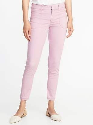 Old Navy Mid-Rise Sateen Pixie Ankle Chinos for Women