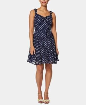 Betsey Johnson Polka-Dot Fit & Flare Dress