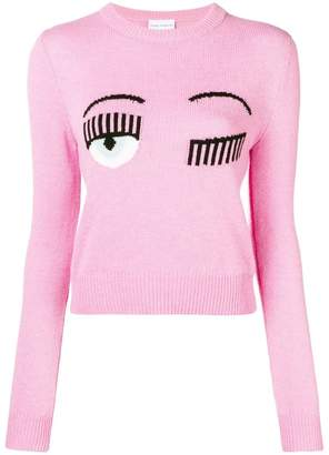 Chiara Ferragni flirting knit sweater