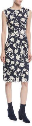 Sachin + Babi Lillie Scalloped Floral-Print Dress