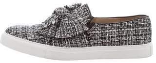 Karl Lagerfeld Tweed Slip-On Sneakers