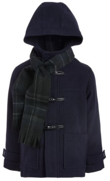S. Rothschild Toddler Boys Hooded Toggle Coat With Scarf