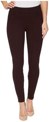Liverpool Piper Hugger Pull-On Leggings in Silky Soft Ponte Knit with Lift and Shape Qualities in Aubergine Women's Jeans