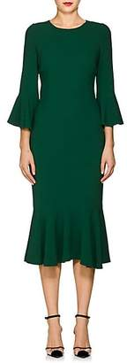 Dolce & Gabbana Women's Flounce-Hem Stretch-Cady Dress - Green