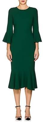 Dolce & Gabbana Women's Flounce-Hem Stretch-Cady Dress - Green
