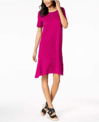 Eileen Fisher Hemp Organic Cotton Asymmetrical-Hem Dress