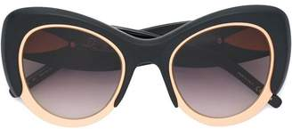 Pomellato Eyewear oversized cat eye frame sunglasses