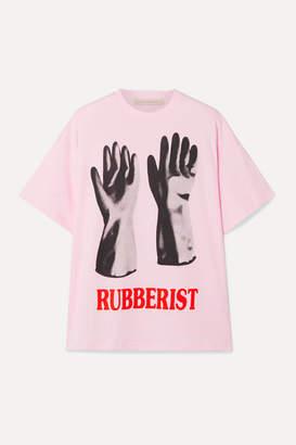 Christopher Kane Printed Cotton-jersey T-shirt - Pink