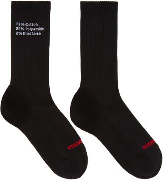 Vetements Black Composition Socks $95 thestylecure.com
