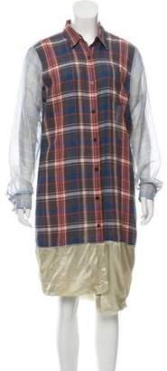 Dries Van Noten Button-Up Knee Length Dress w/ Tags