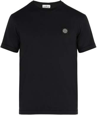 Stone Island Logo-appliqué cotton T-shirt