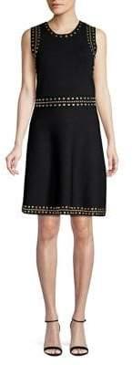 MICHAEL Michael Kors Studded Fit-&-Flare Dress