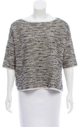Max Mara Textured Short Sleeve Sweater
