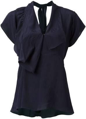 Marni draped v-neck blouse