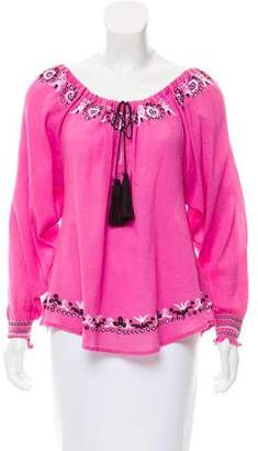 LoveShackFancy Embroidered Long Sleeve Top w/ Tags