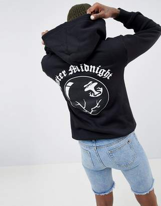 Obey Oversized Hoodie With Sister Midnight Back Print
