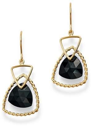 Bloomingdale's Trillion-Cut Black Onyx Drop Earrings in 14K Yellow Gold - 100% Exclusive