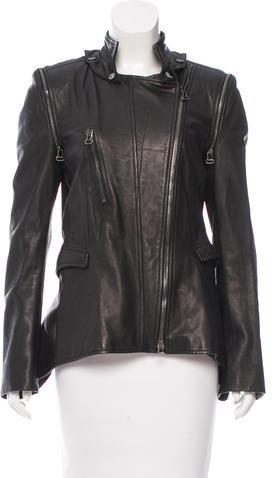 Roberto CavalliRoberto Cavalli Leather Asymmetrical Jacket