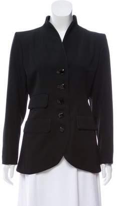 Saint Laurent Wool Fitted Blazer
