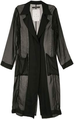 Song For The Mute sheer long blazer